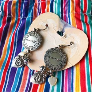"""Brighton Jewelry - NWT Brighton """"Courage"""" Earrings in Sterling Silver"""
